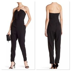 NWT Adelyn Rae Strapless Sweetheart Neck Jumpsuit